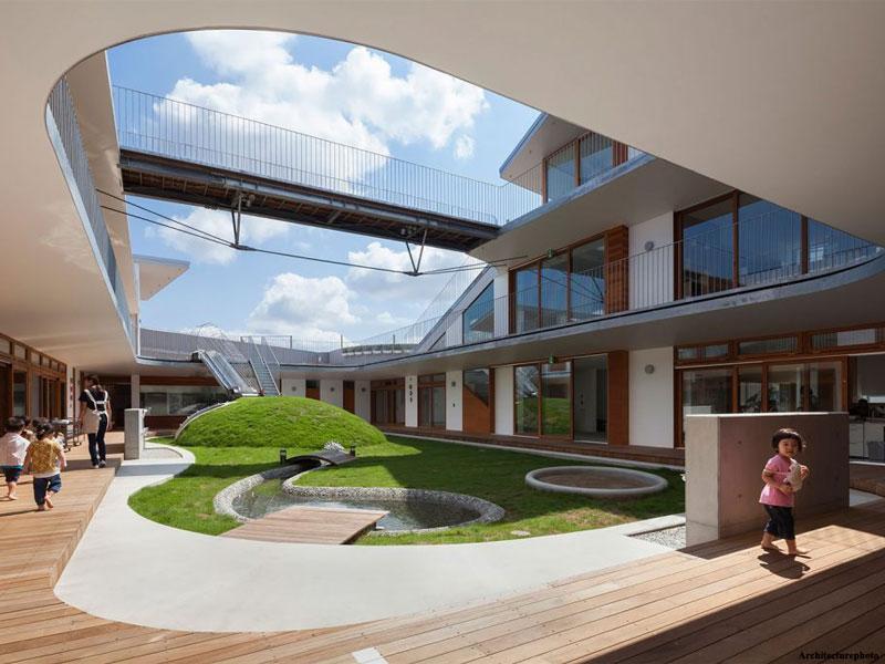 معماری و طراحی داخلی مهدکودکی در ژاپن