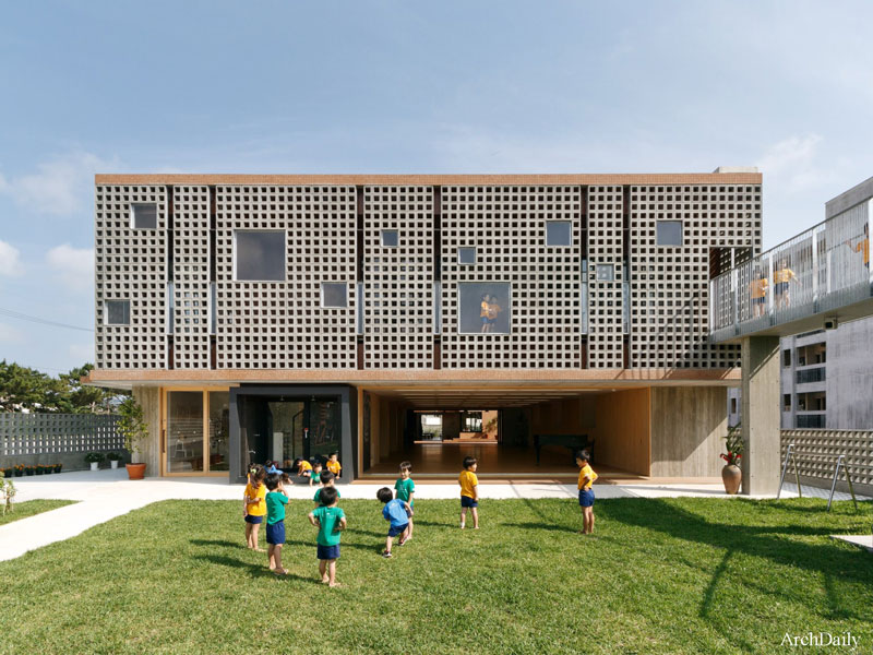 طراحی و معماری مهد کودک و شیرخوارگاه هانازونو