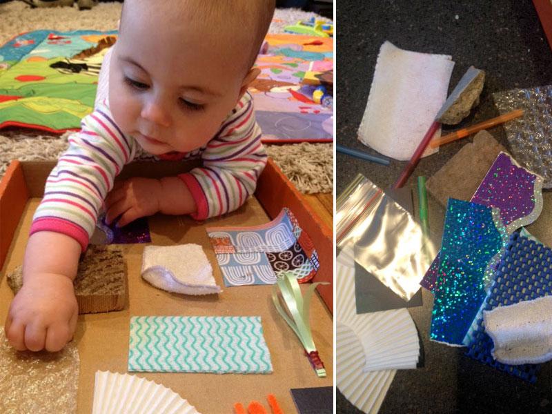 ساخت تخته لمسی برای نوزادان و نوپایان