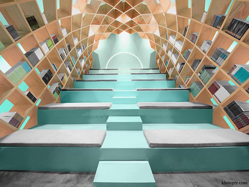 طراحی داخلی خلاقانه کتابخانه مونتری مکزیک