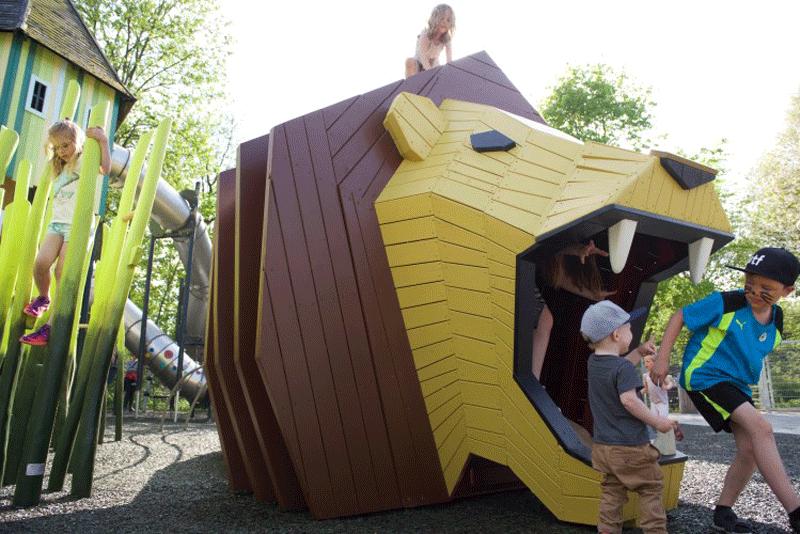 خلاقیت در طراحی زمین بازی کودکان