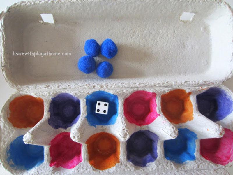 بازی اعداد و رنگها با شانه تخممرغ